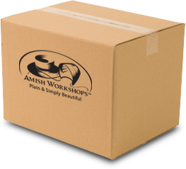 A shipping box of Amish crafts from Amish Workshops