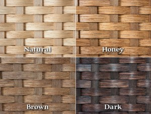 Woven Basket Finish Color Choices