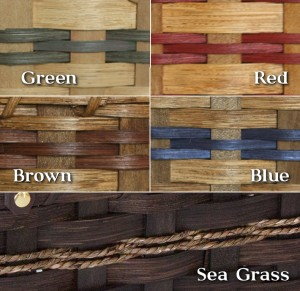 Woven basket trim color choices.
