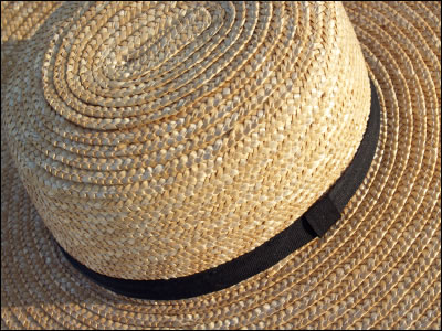 An Amish man's straw hat.