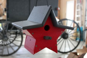 Star-shaped birdhouse made by an Amish craftman