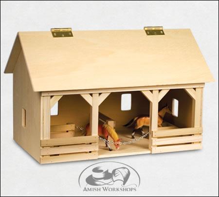 wood toy Barn amish made