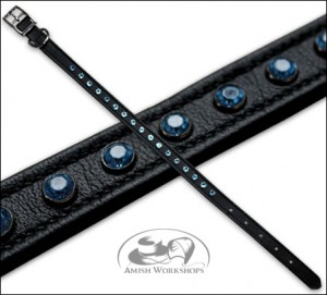 Black-Leather-Pet-Collar-amish made