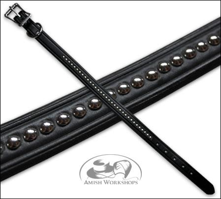 Black-Leather-Pet-Collar amish made