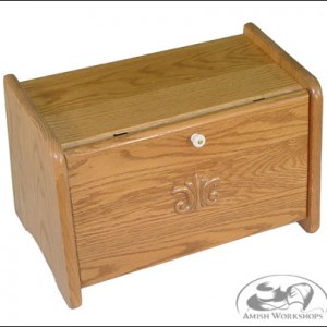 Amish bread box oak