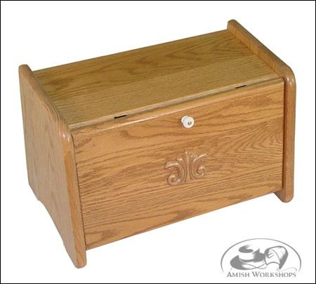 Amish bread box oak