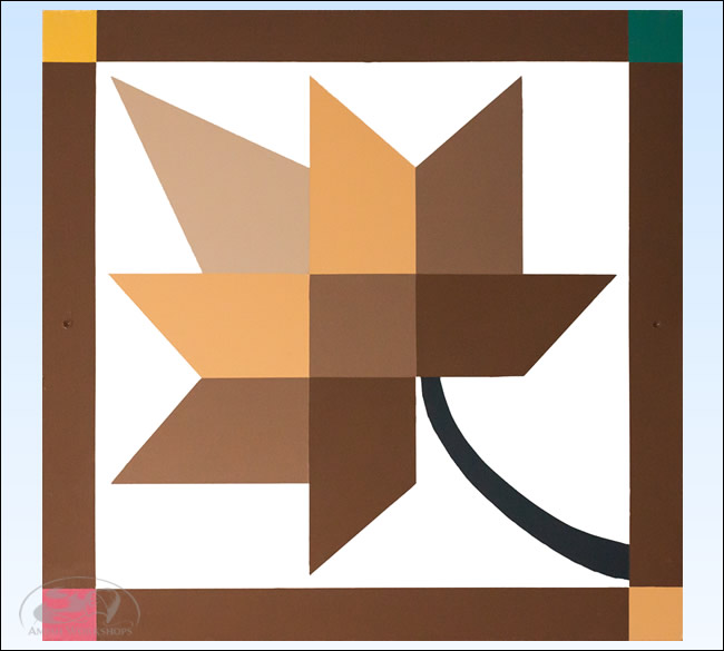 Brown-Yellow-Leaf-Barn-Quilt amish made