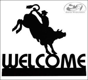 welcome sign amish made in usa