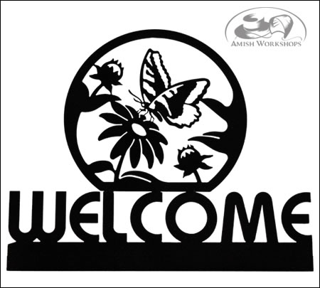 Butterfly-Welcome-Sign-Amish-made