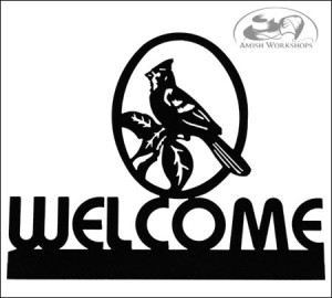 Cardinal-Welcome-Sign-Amish-made