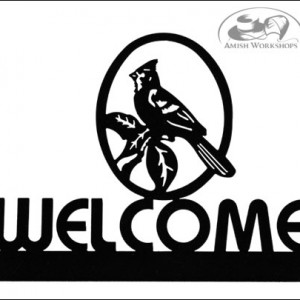 Cardinal-Welcome-Sign-Amish-made