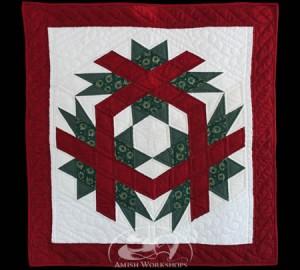 Christmas-Cube-Wall-Hanging Amish made