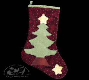 Christmas-Stocking-dark-red amish made