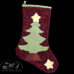 Christmas-Stocking-dark-red amish made