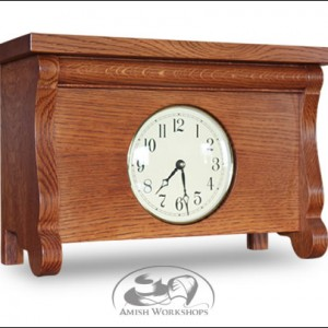 Classic-Old-Sleigh-Mantle-Clock-Amish-made