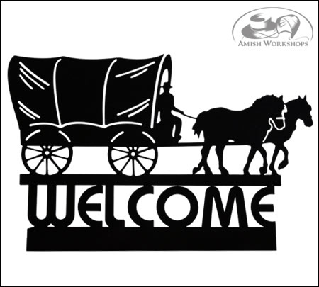 Covered-Wagon-Welcome-Sign-Amish-made
