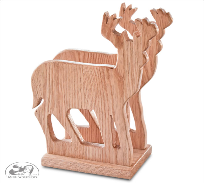 Amish Deer-Napkin-Holder