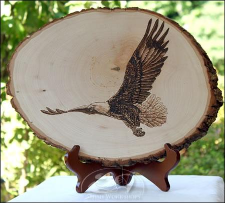 Eagle-Woodburning amish