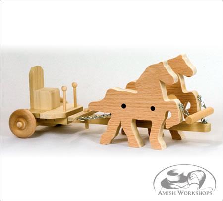 wood toy Forecart-Amish-made