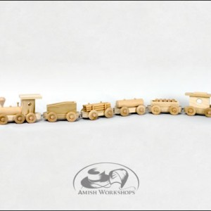 wood toy Freight-Train amish made