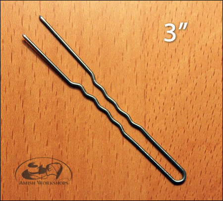 Hairpins-crinkled-extra-large amish made