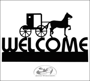 amish Horse-and-Buggy-Welcome-Sign-Amish-made