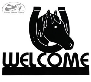 Horse-and-Horseshoe-Welcome-Sign-Amish-made