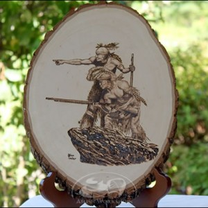 Indians-Woodburning amish