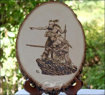 Indians-Woodburning amish