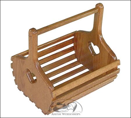 amish made wood nesting basket