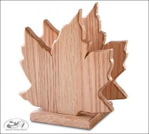 Amish made Maple-Leaf-Napkin-Holder