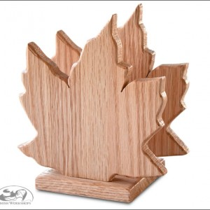 Amish made Maple-Leaf-Napkin-Holder