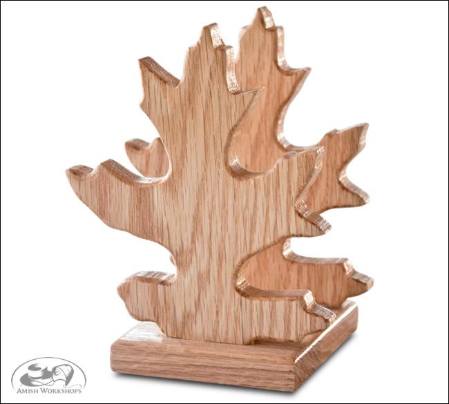 Oak-Leaf-Napkin-Holder amish made