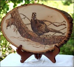 Pheasant-Woodburning amish