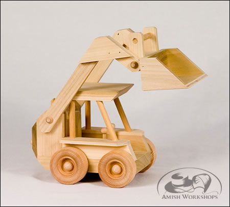 wood toy Skid-Loader-Amish-made