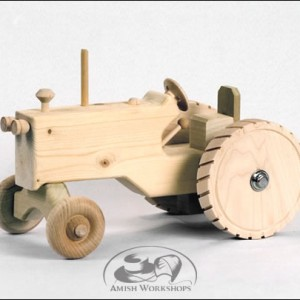 Amish toy wood Tractor amish made