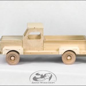 wood toy truck amish made