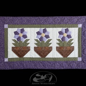 Violet-Table-Runner amish made