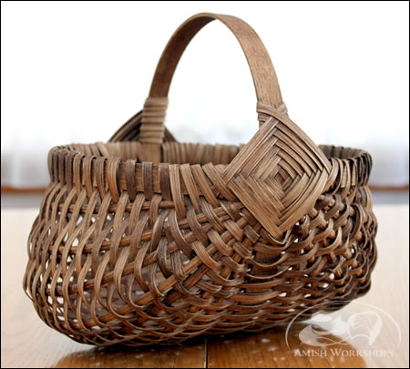 Woven-Egg-Basket amish made