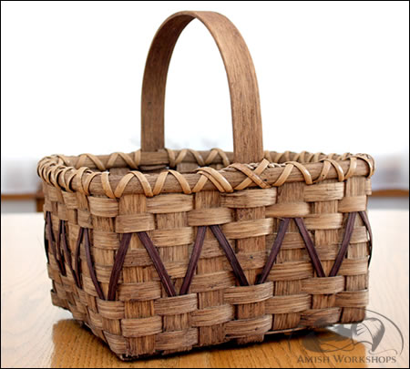 Woven-Market-Basket amish made