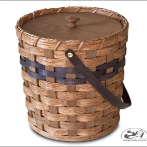 Woven-Round-basket amish made