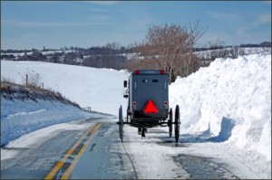 Pennsylvania Amish Buggy in the Snow