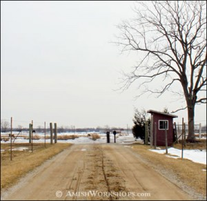 An Amish phone shack.