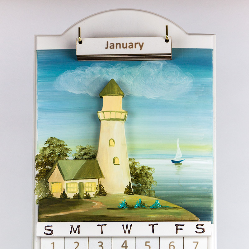wood calendar amish made in usa
