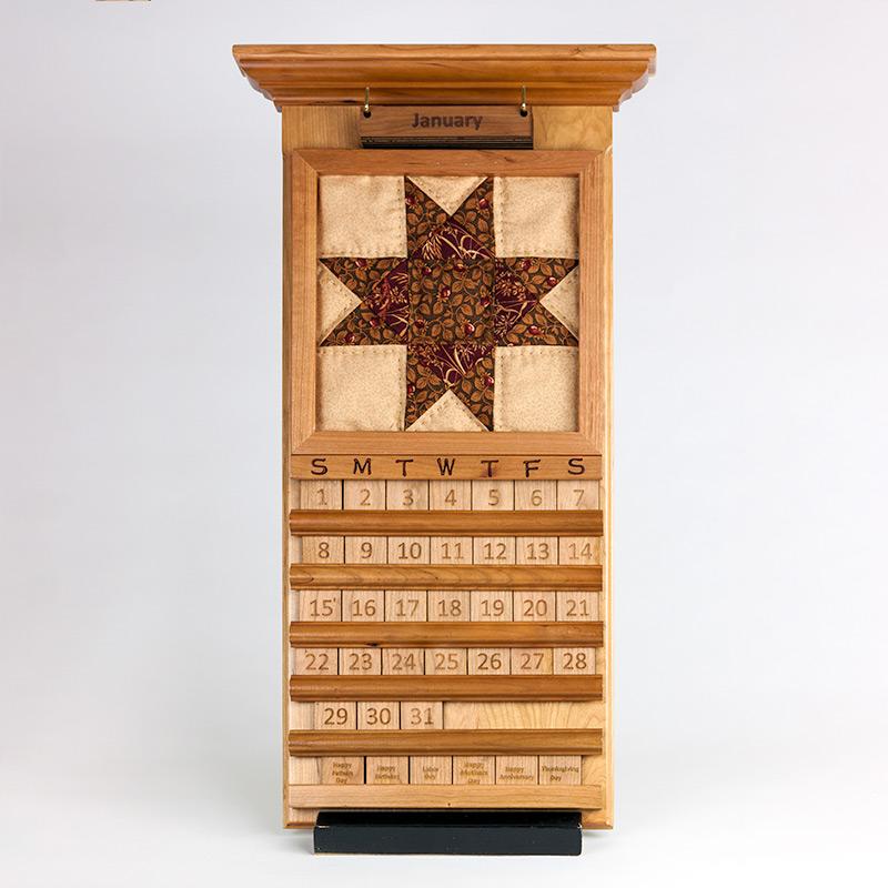 wood calendar amish made in usa