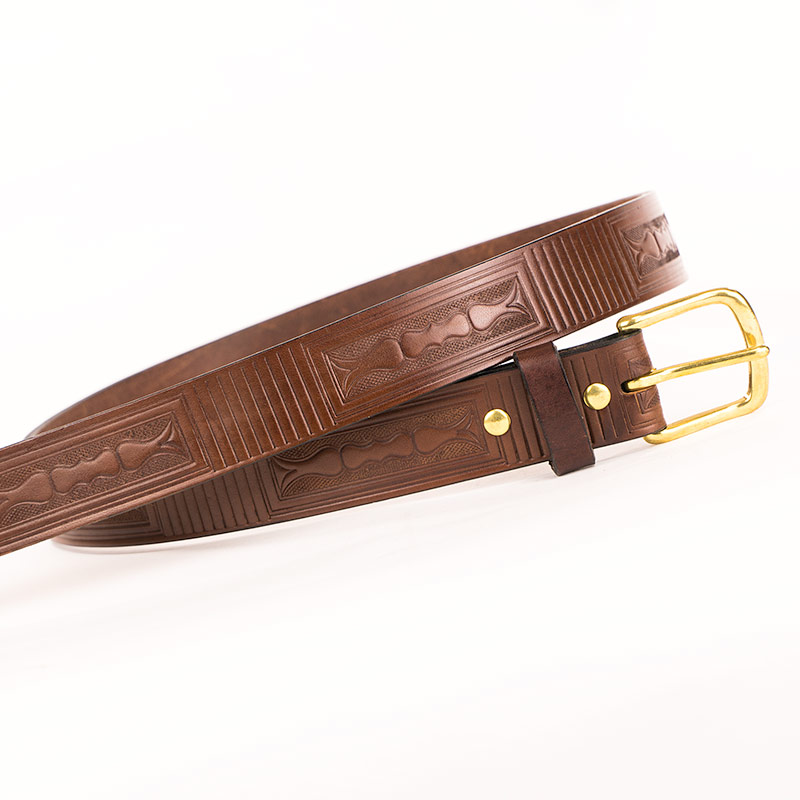 Amish made leather belt made in usa