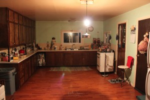 A kitchen in an Amish home.