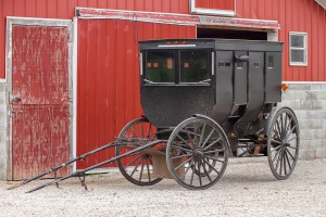 An Amish buggy.