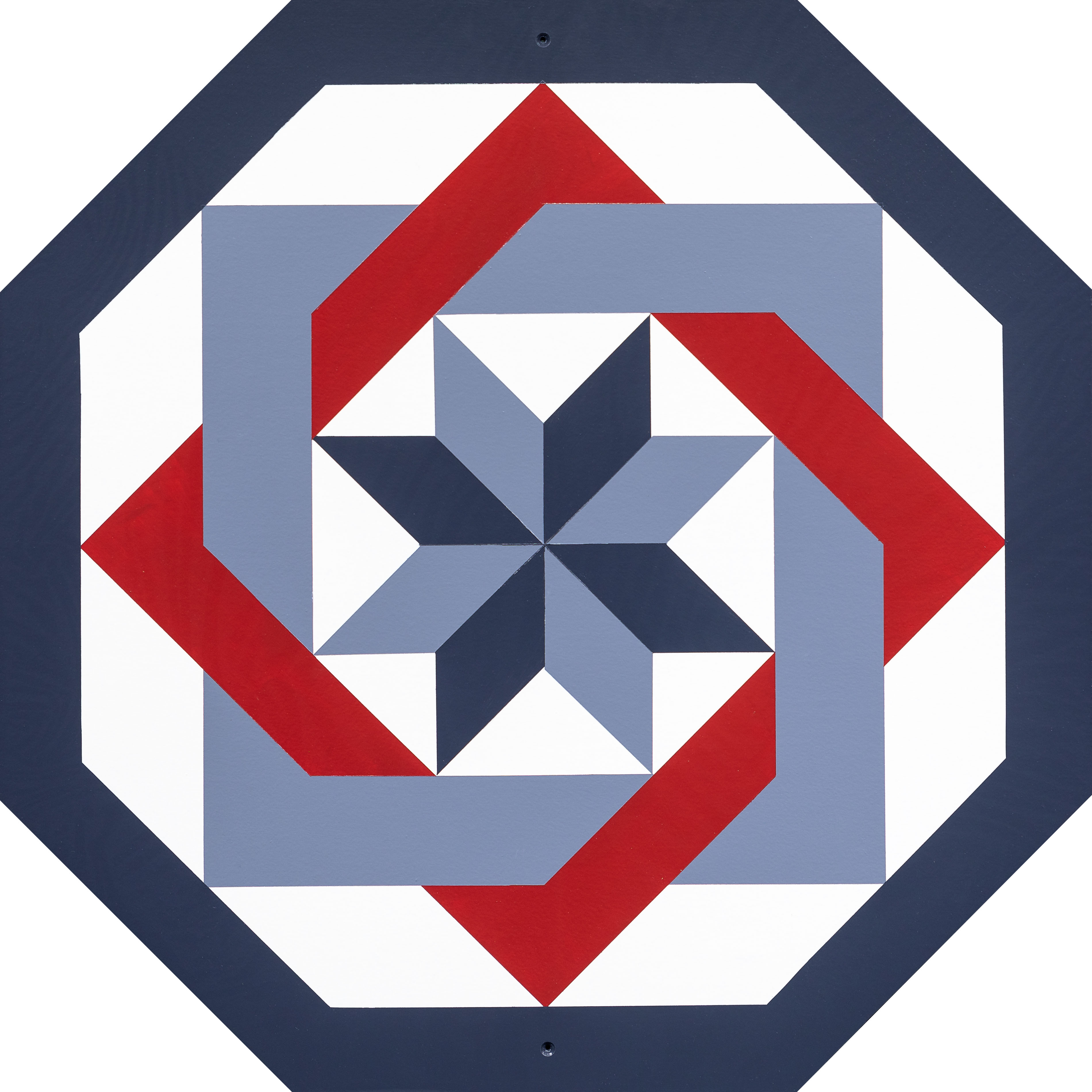 Barn Quilt Labyrinth Red