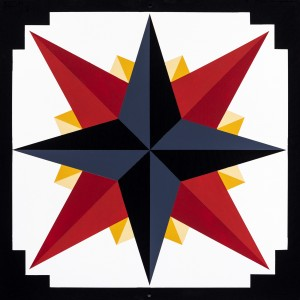 Barn Quilt Mariners Compass Golden Abyss